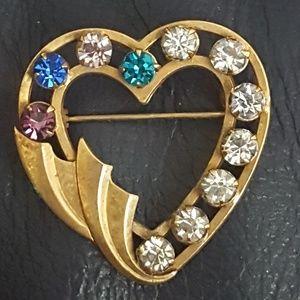 VINTAGE 12k gold filled catamore brooch